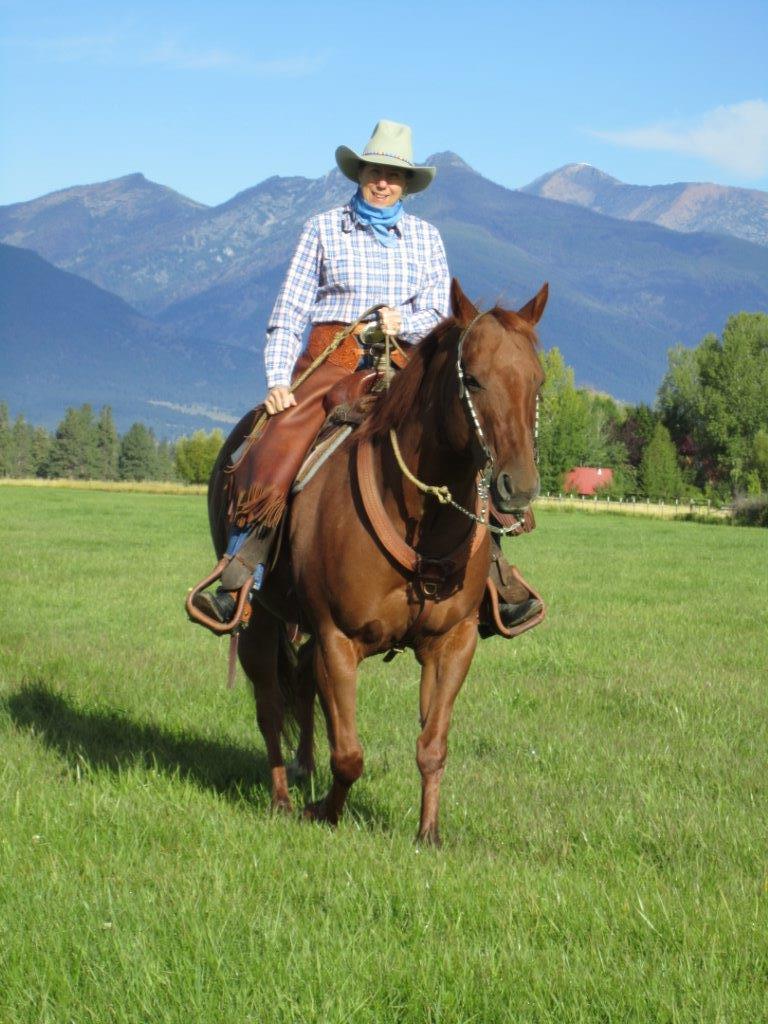Jane Lambert and her horse Reba Russel County