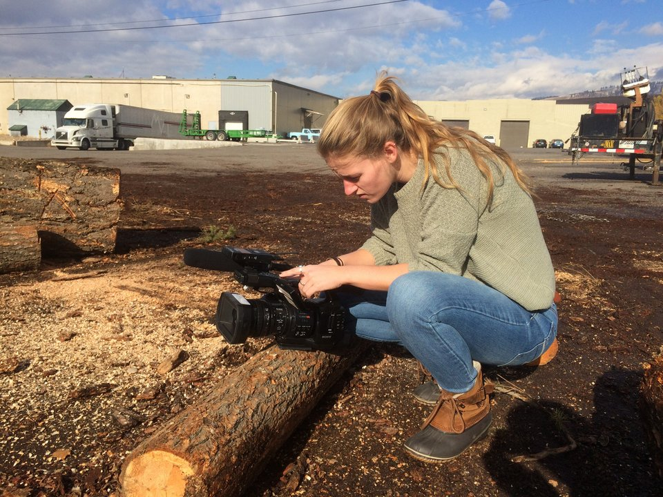 Jane Addison shoots video at Bad Goat Forest Products