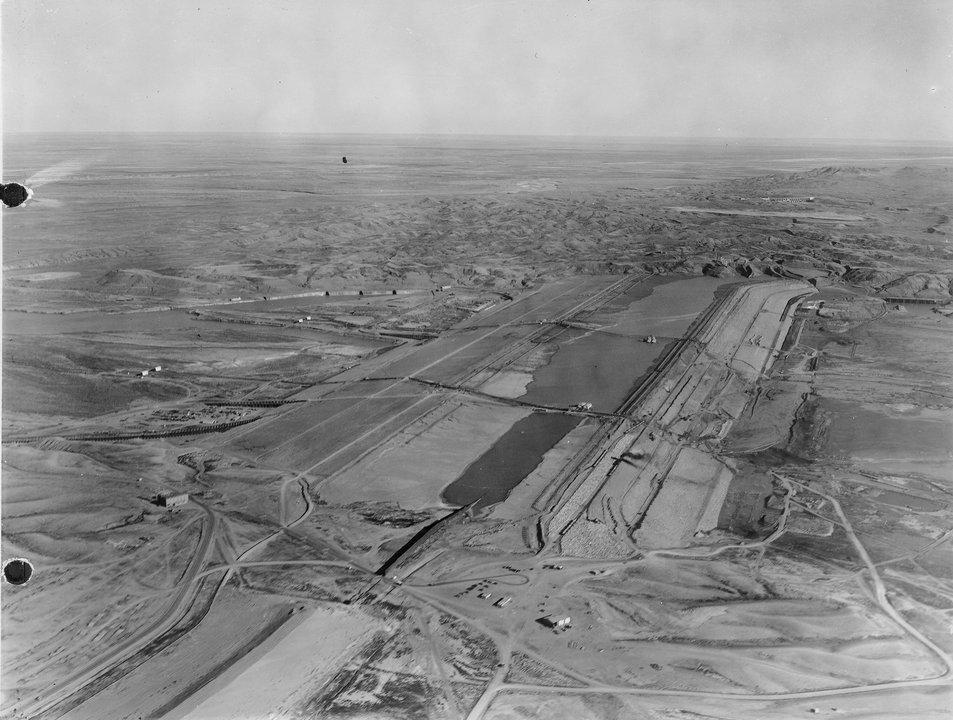 Fort Peck Dam Montana Aerial