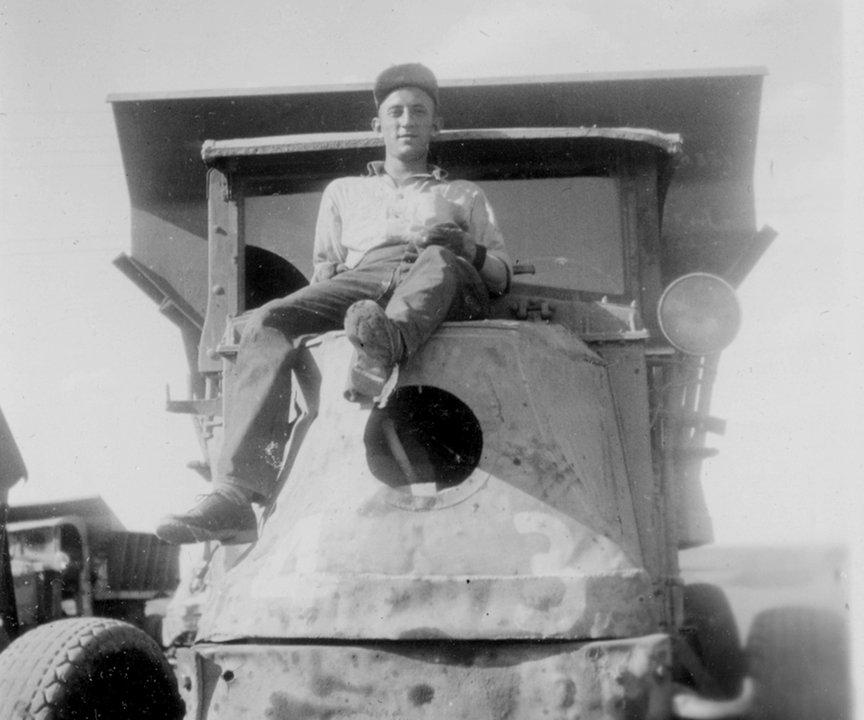 "courtesy ""Burkman"" Montana Fort Peck Dam Construction"