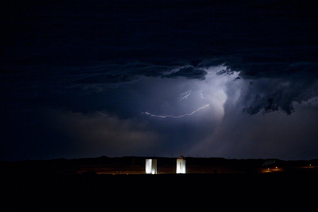 Scott Sterling storm lightening Fort Peck Dam powerhouses powerhouse