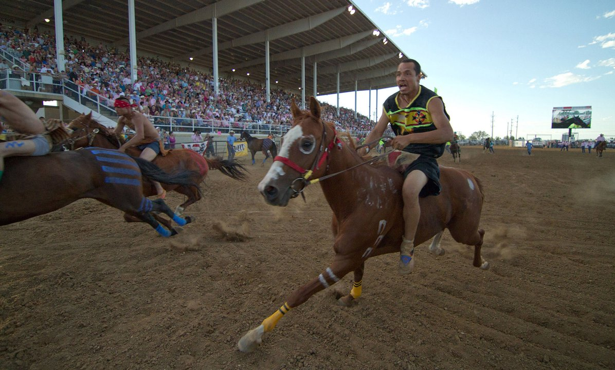 Narsis Reevis Indian Relay World Championships WYO Rodeo Sheridan Wyoming,