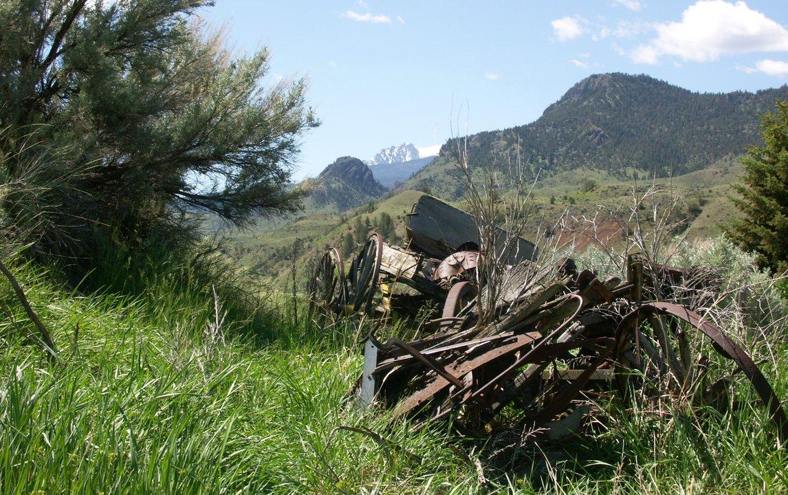 Remnants on the Slip & Slide ranch