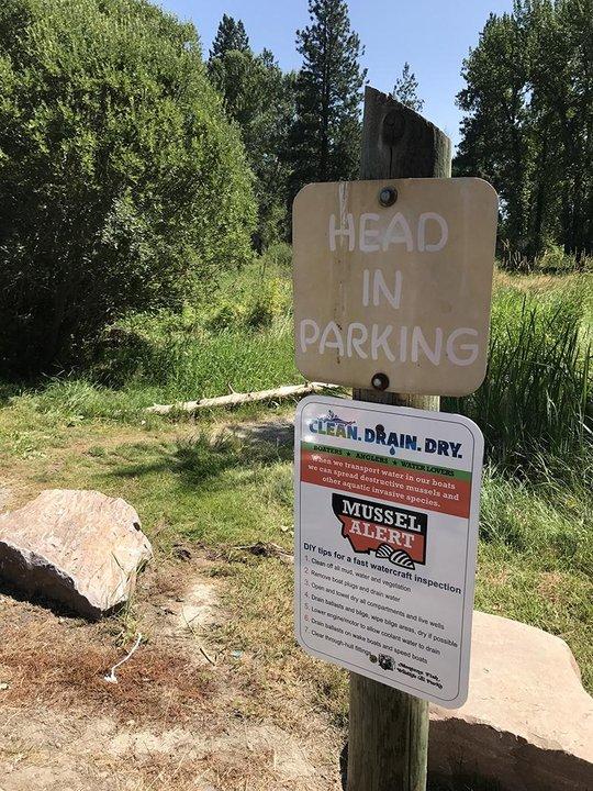 Poker Joe fishing access near Stevensville, MT