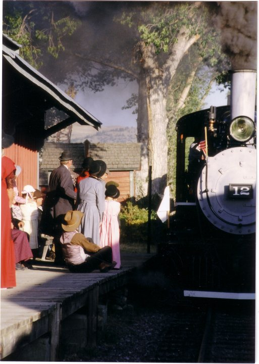 Nevada City train station Steam Engine #12