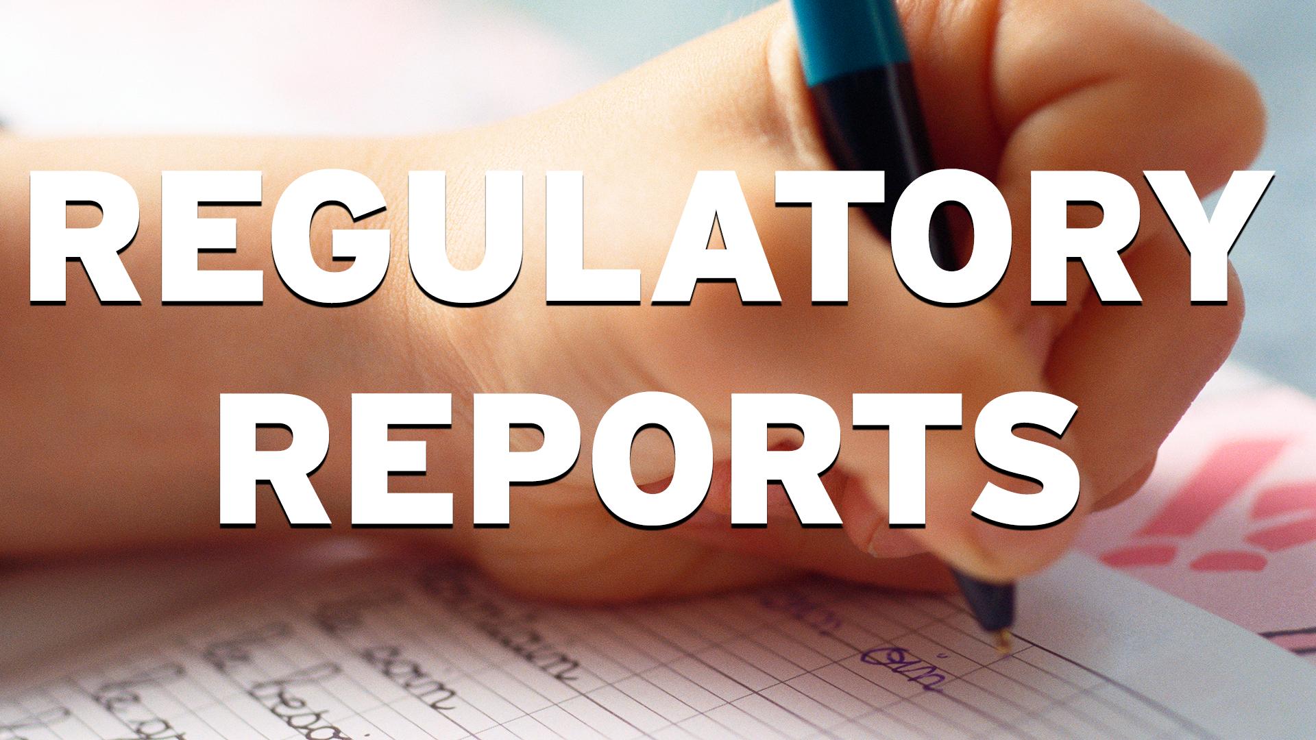 Regulatory reports image