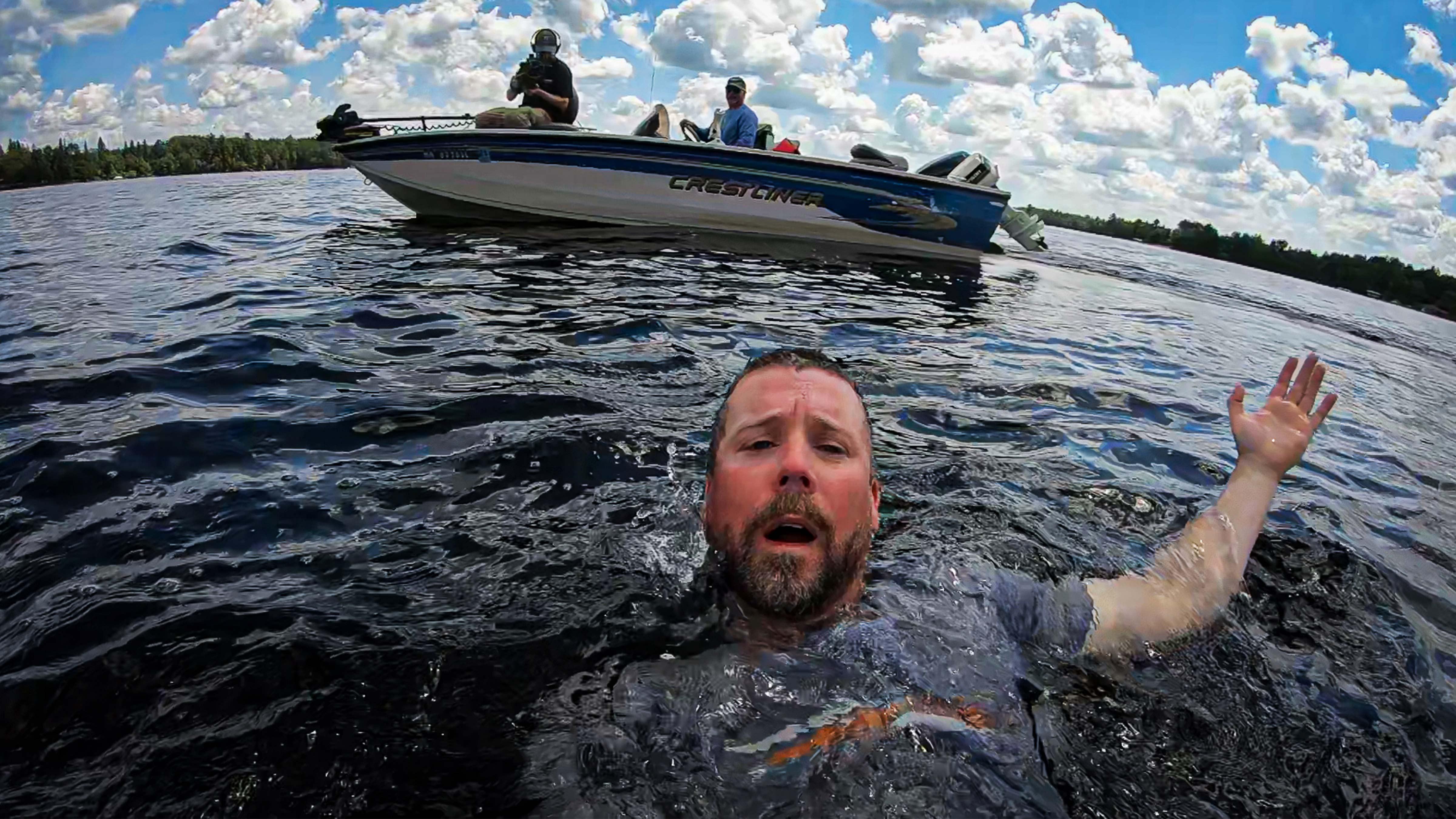 Bret Amundson takes a dip
