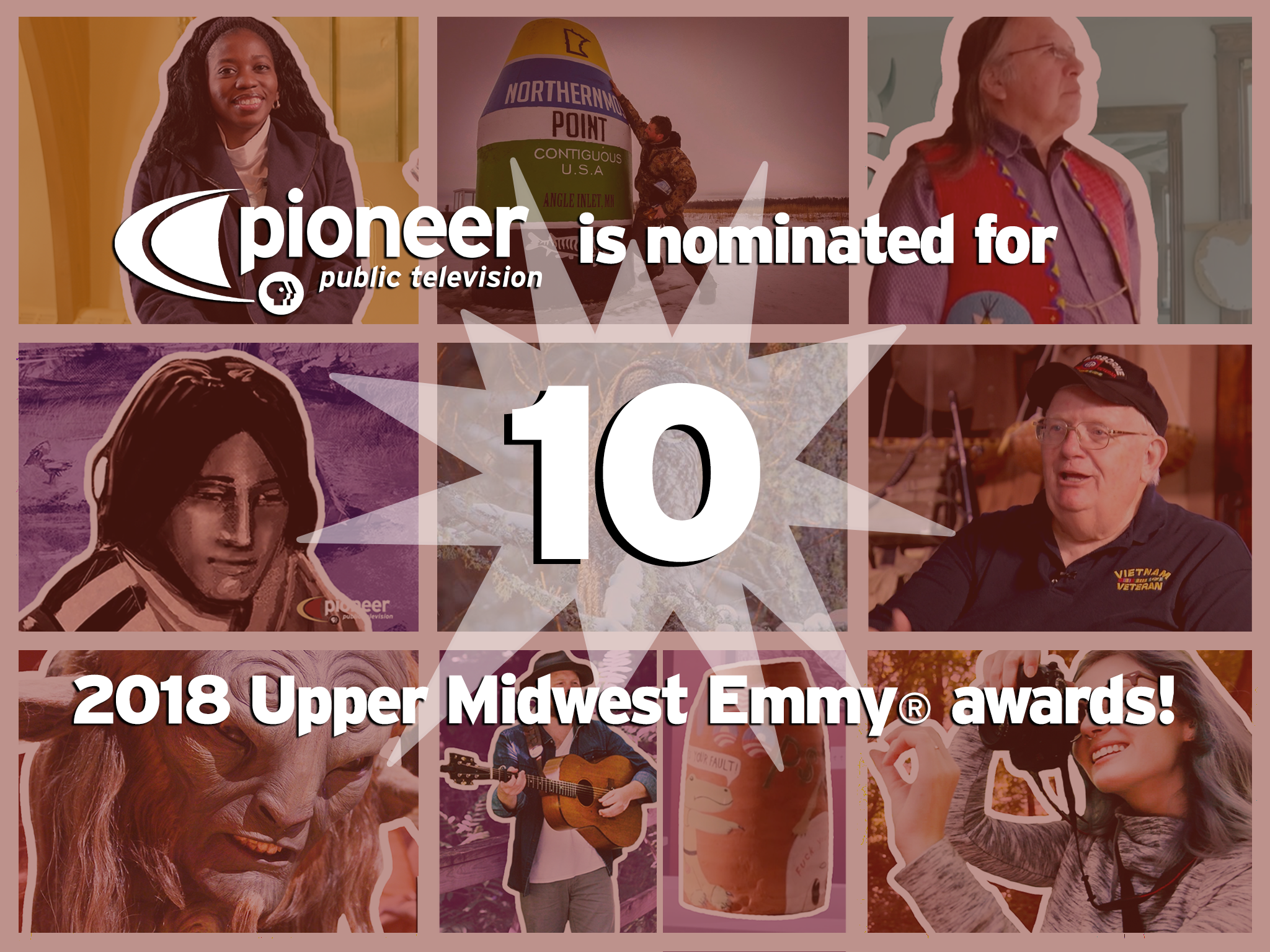 Pioneer Public TV nominated for 10 Upper Midwest Emmy® Awards