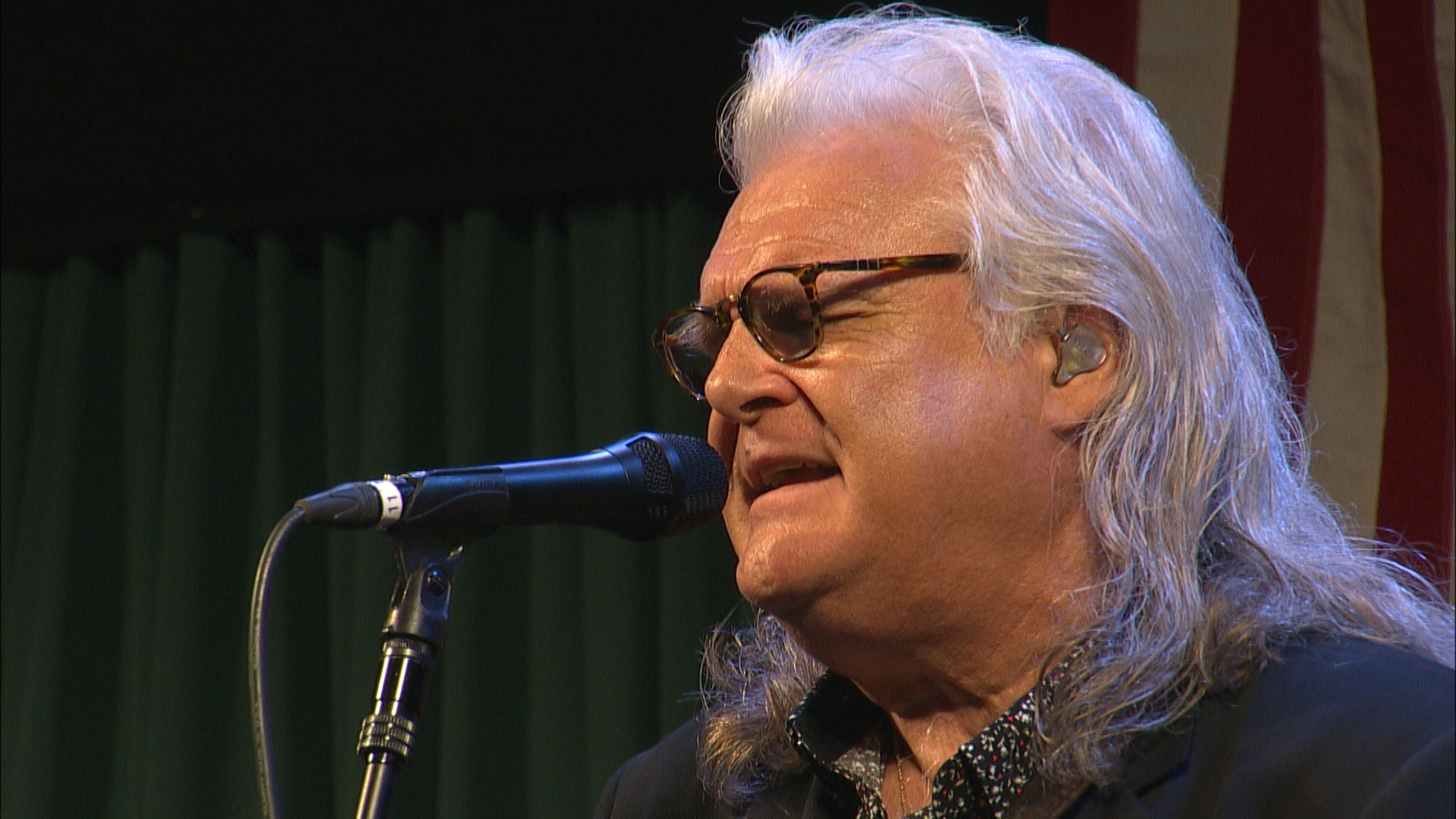 Ricky Skaggs performing on the main stage.