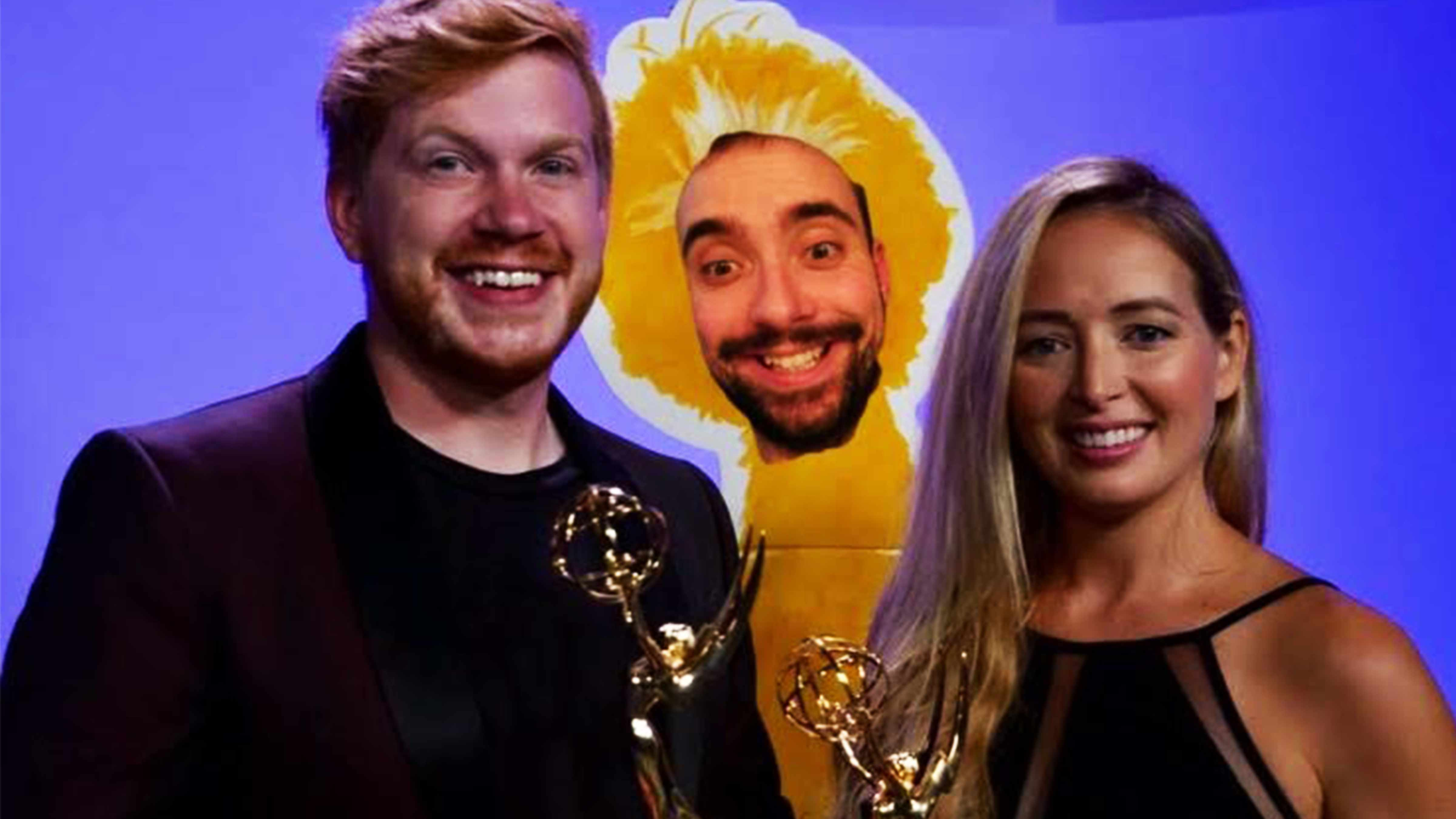 Postcards team of Ben Dempcy, Kris (Bigbird) Gieske and Dana Conroy picked up 4 new Emmy awards this past weekend.