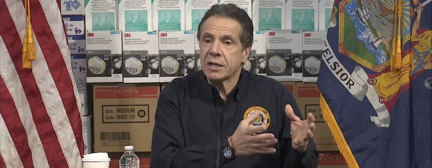 Gov. Andrew Cuomo speaks to reporters in New York City Tuesday.