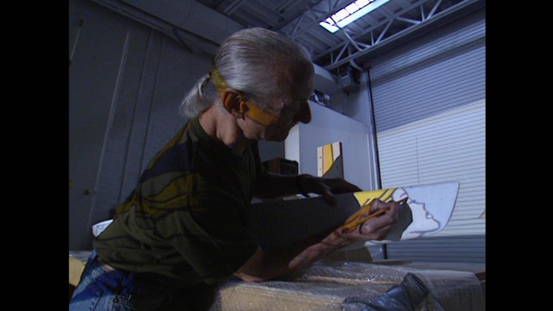 Lichtenstein designing the hull