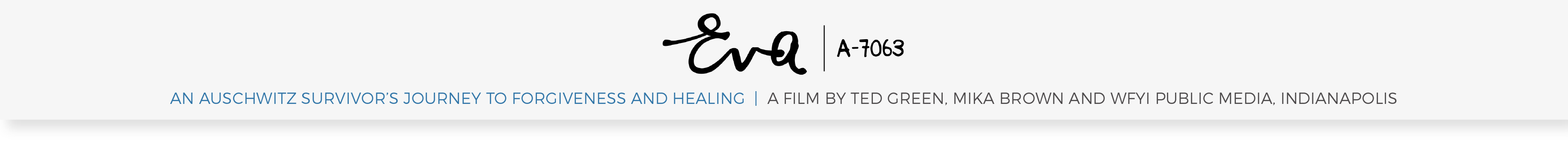 """Eva"" An Auschwitz survivor's journey to forgiveness and healing 