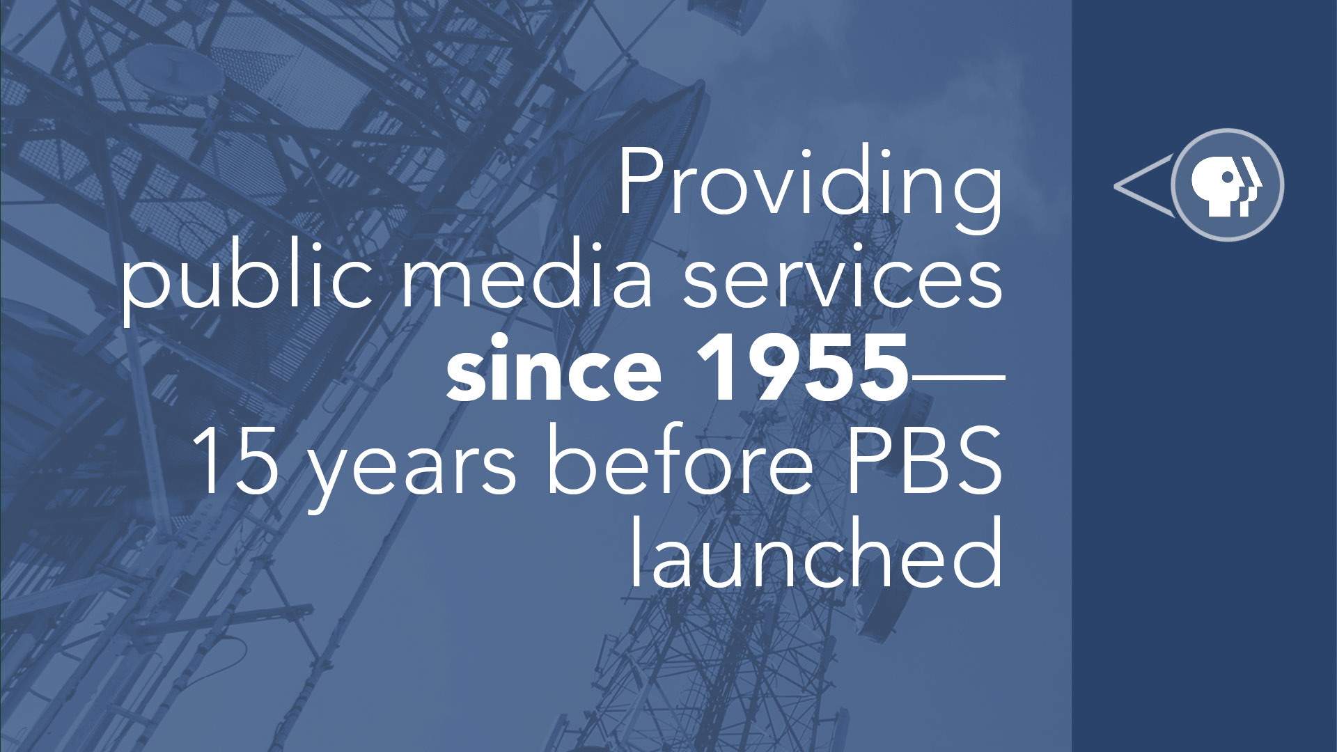Providing public media services since 1955, 15 years before PBS launched