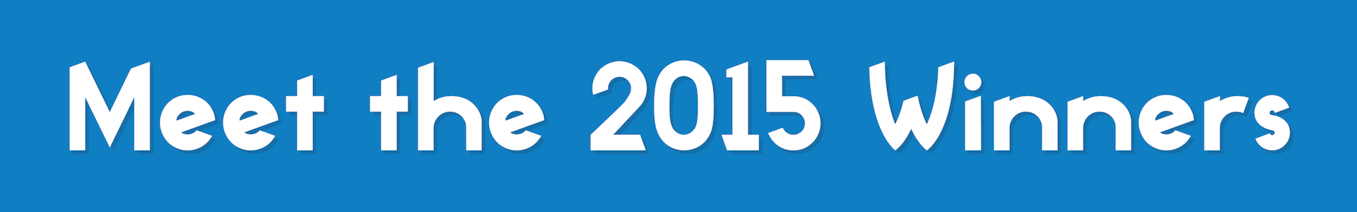 Meet the 2015 Winners
