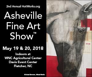 Ad: Hot Works - Asheville Fine Arts Show