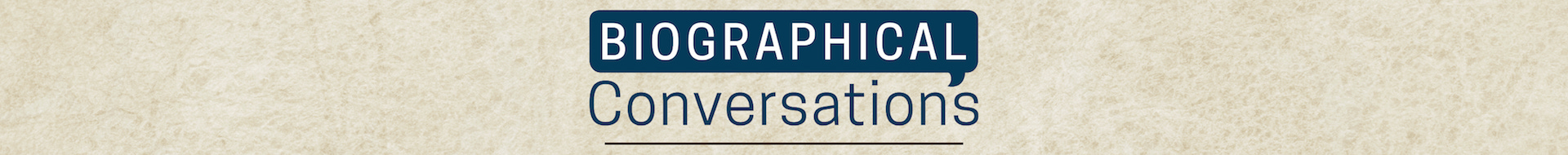 Biographical Conversation Logo Banner