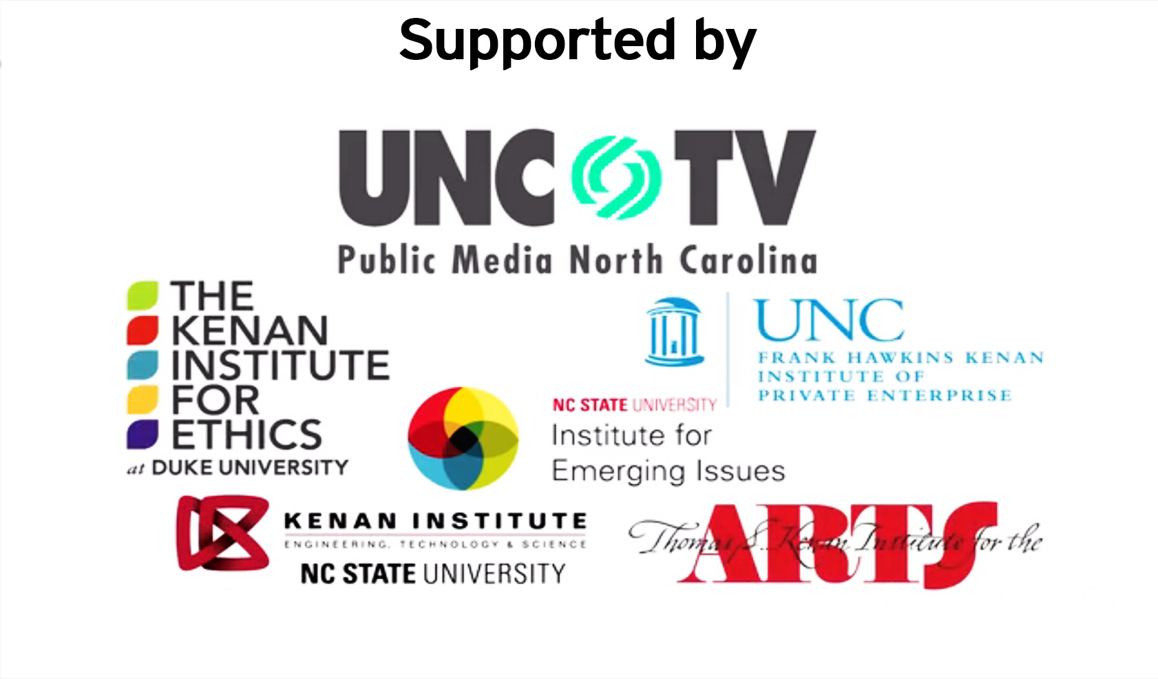 Supported By UNC-TV,The Kenan Institute  and other partners