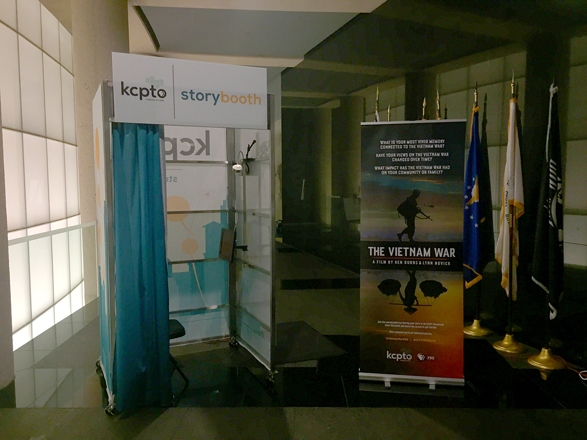 Photo of KCPT Storybooth at the National World War I Museum and Memorial