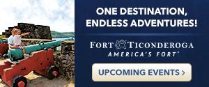 Ad for Fort Ticonderoga
