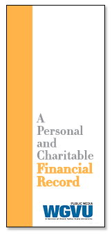 Brochure | Personal and Charitable Financial Record