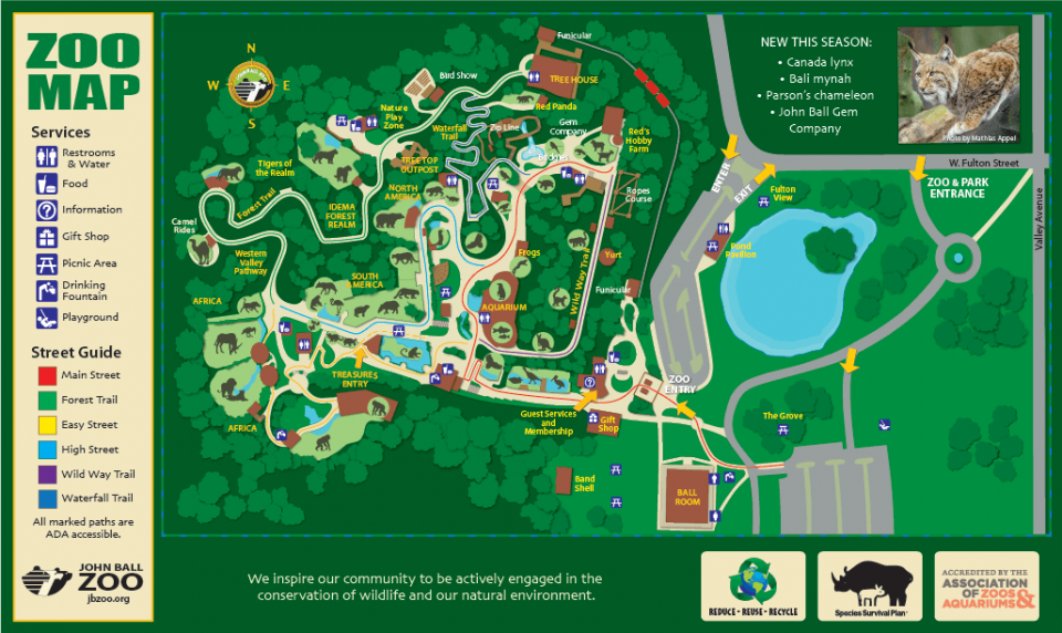 John Ball Zoo Map