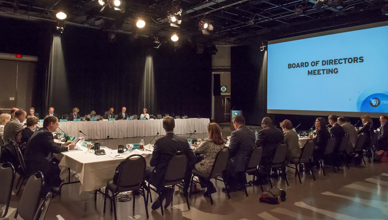 PBS Board of Directors meeting in WNED Studio One