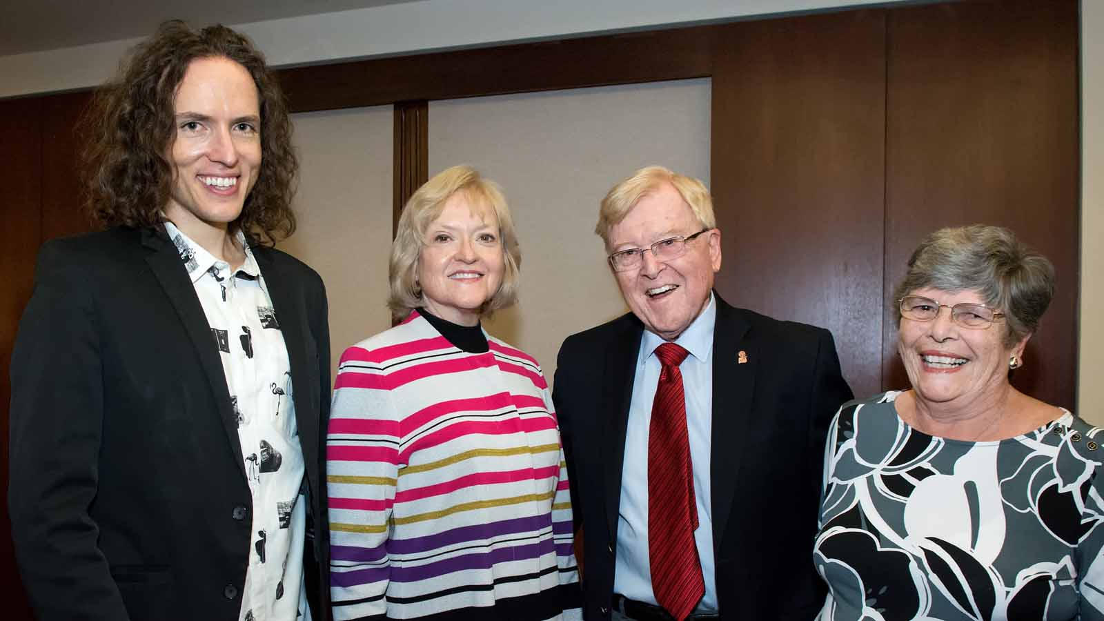 Tim Fain and Karen Arrison with Mike and Marilyn Collins