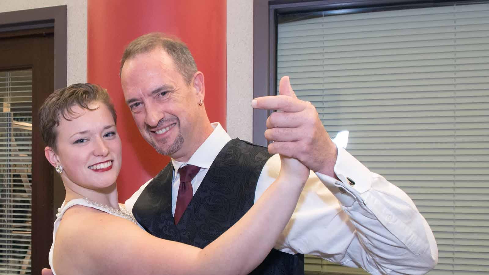 Tango dancers celebrate Classical WNED's 40th Anniversary.
