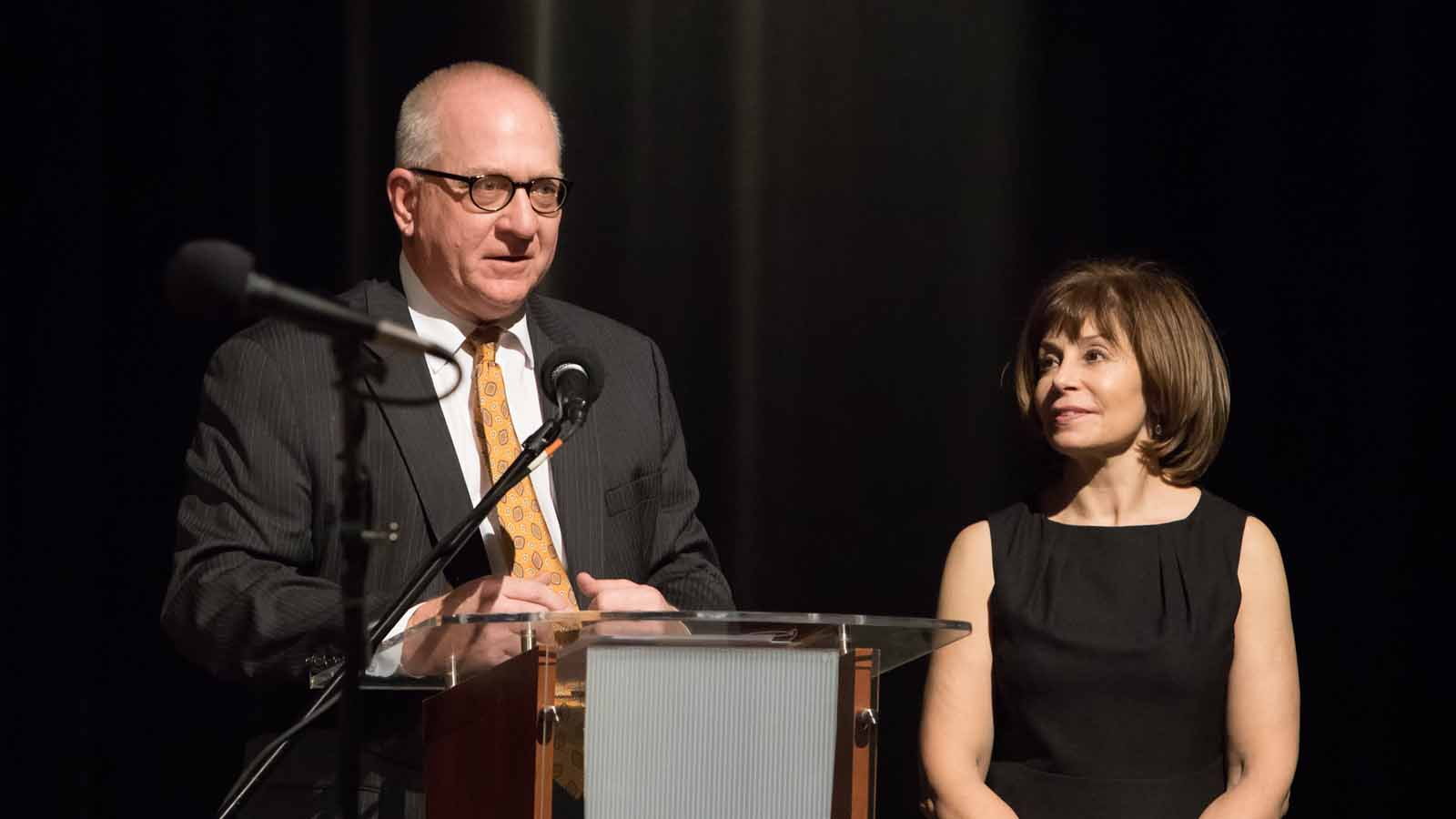 Dan Hart and JoAnn Falletta from the Buffalo Philharmonic Orchestra, praising the relationship the BPO enjoys with WNED