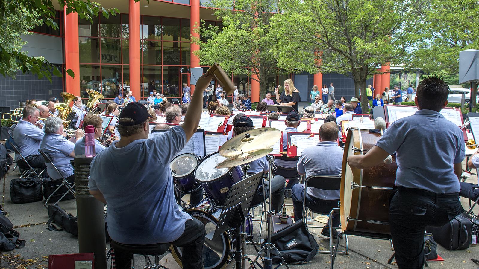 Musical performance outside WNED | WBFO