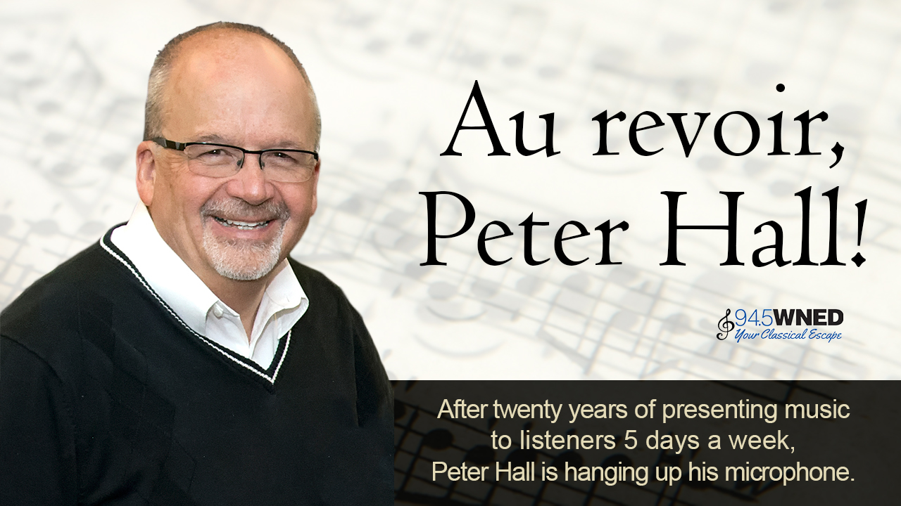Peter Hall is retiring!