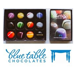12 Assorted Gourmet Truffles by Blue Table Chocolates