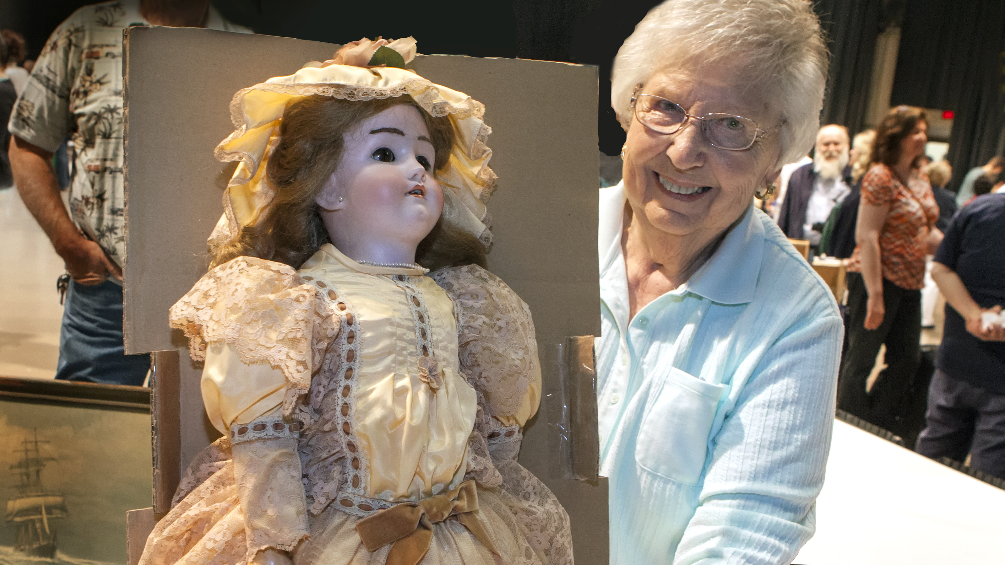With that smile on her face, it appears she may have gotten some good news about the value of her antue doll at the WNED | WBFO Antiques Home Show