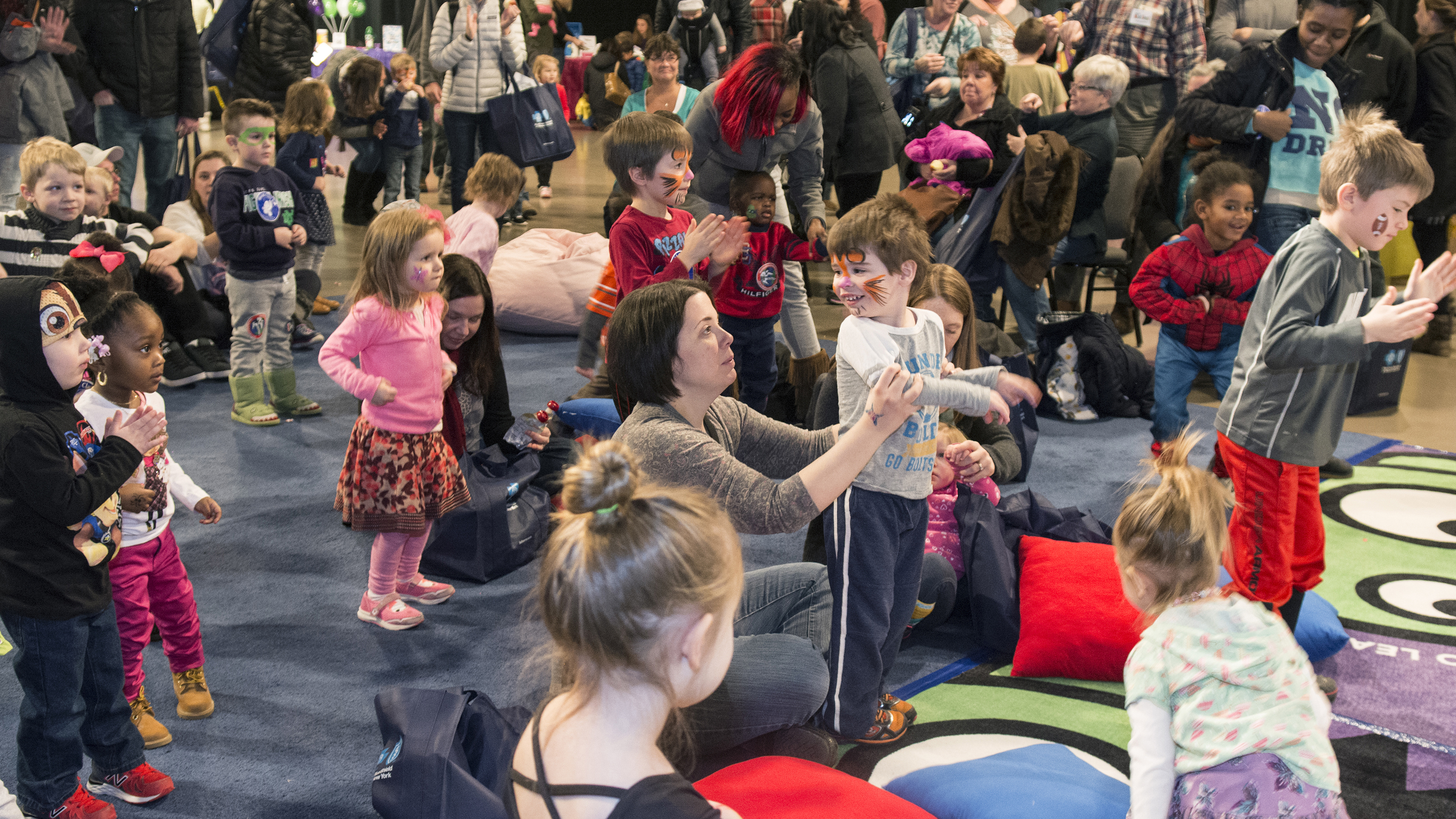 young audience enjoying WNED-TV Kid Fest