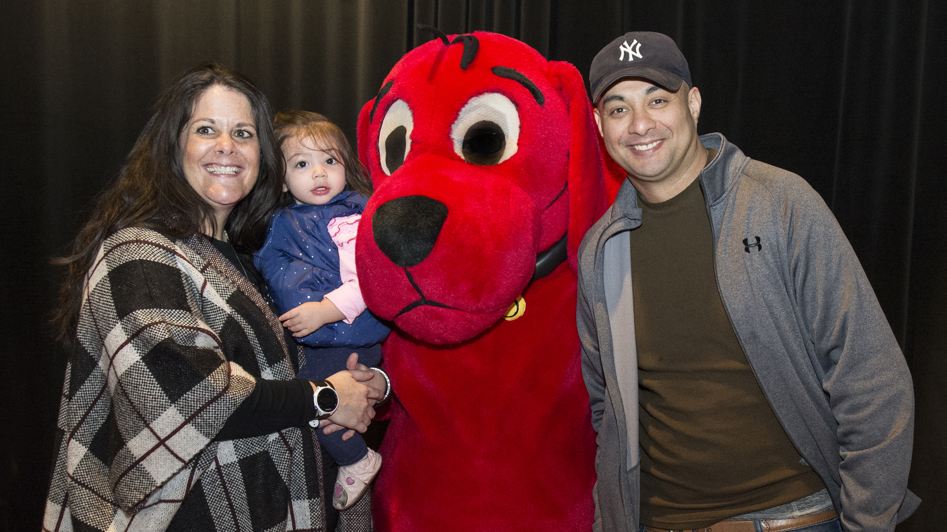 PBS KIDS family pose with Clifford