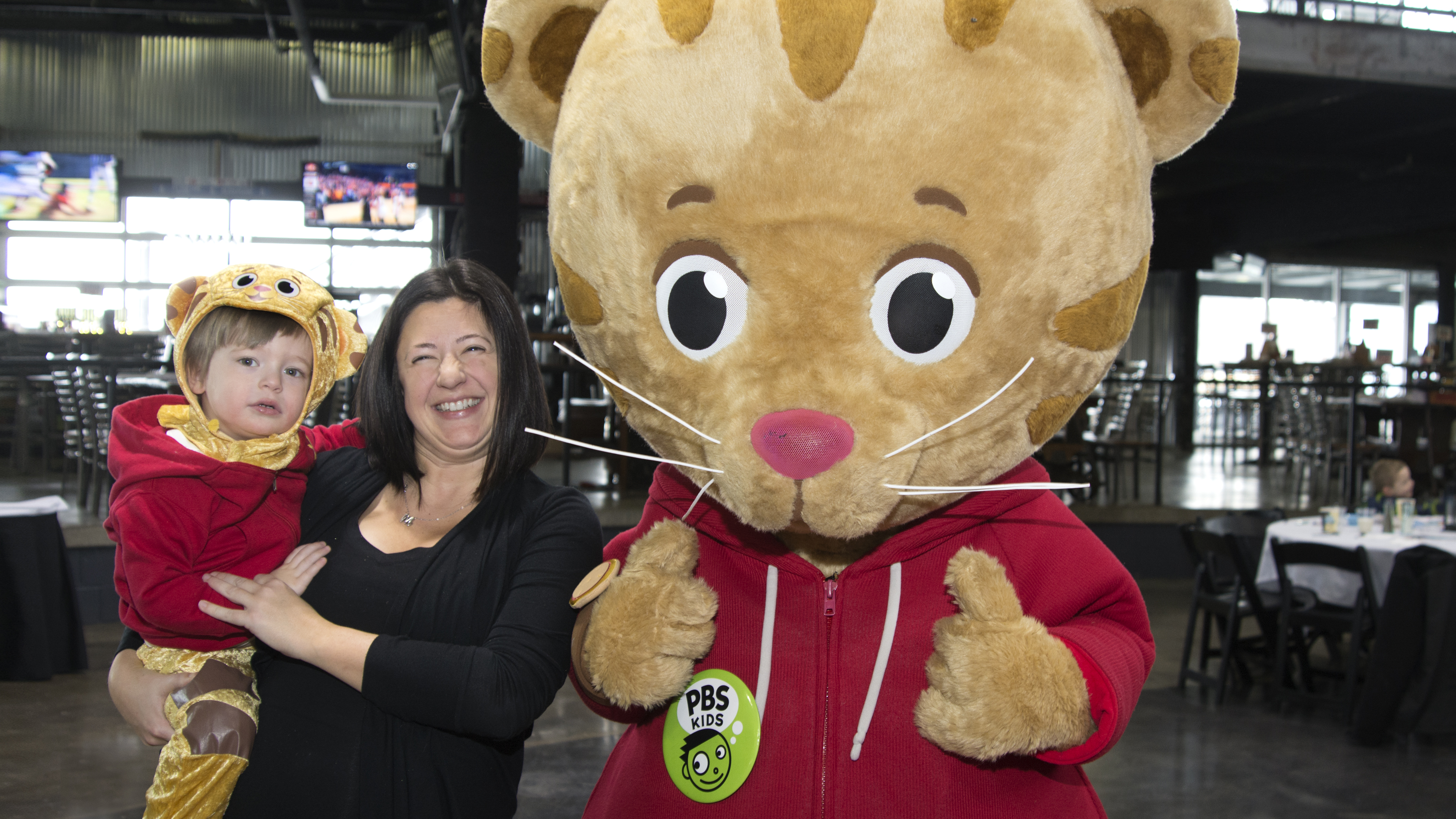 Daniel Tiger and fans!