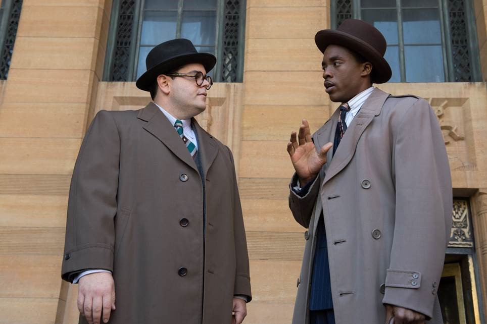 Starring Chadwick Boseman  as legendary attorney and Supreme Court Justice Thurgood Marshall and Josh Gad as lawyer Sam Friedman.