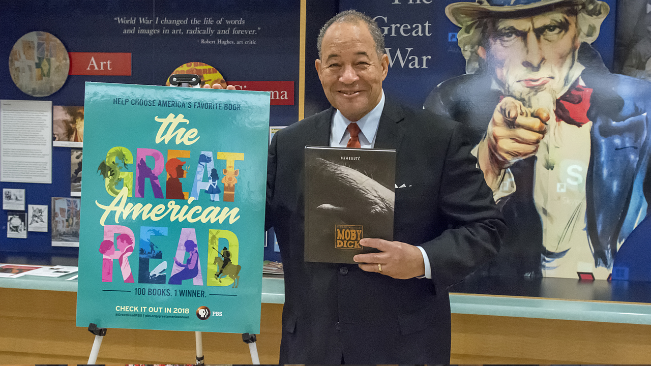 WNED | WBFO's Don Boswell poses with him favorite book