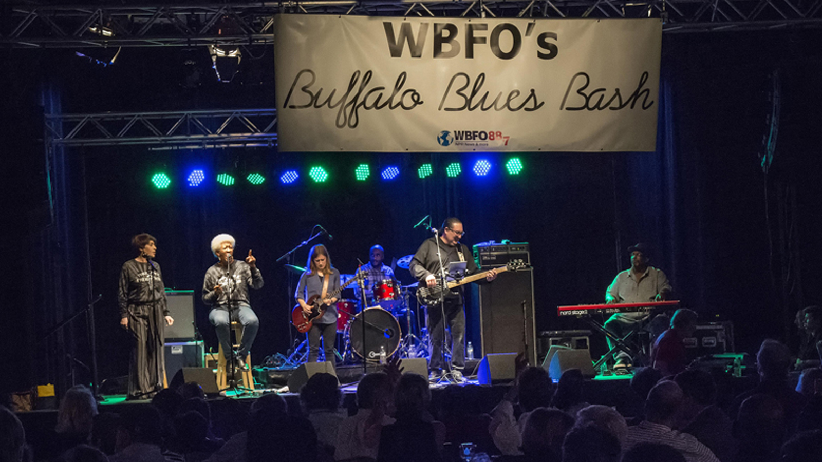 Local band Freightrain open up the October 14, 2014 Blues Bash