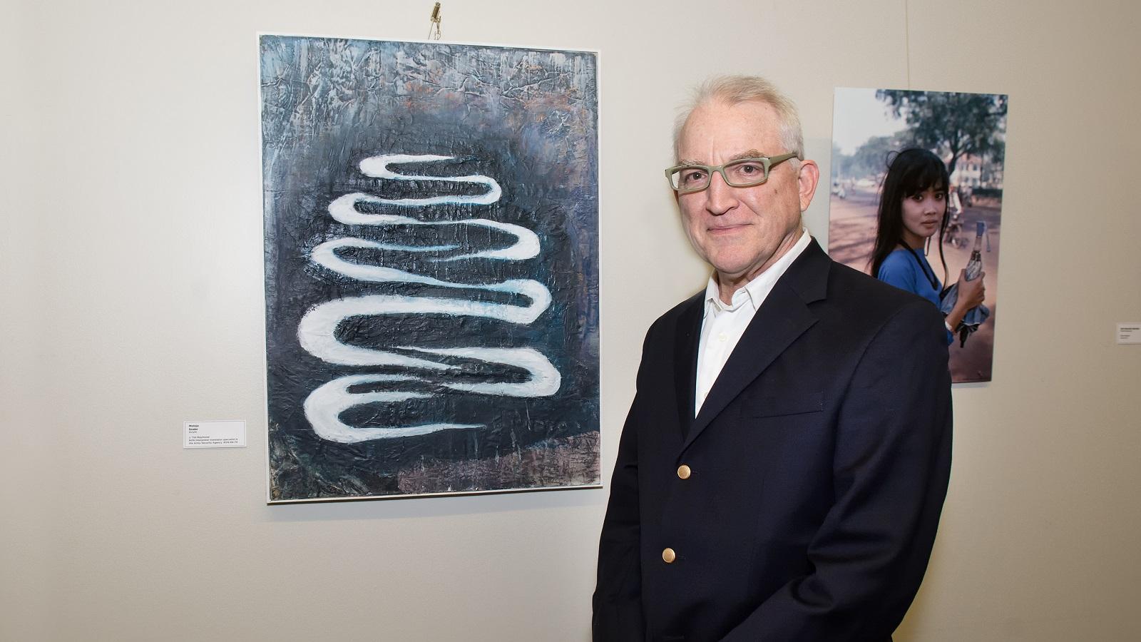 """Moloja - Snake"" by artist J. Tim Raymond, NVN Interpreter translator specialist in the Army Security Agency. RVN-69-70"