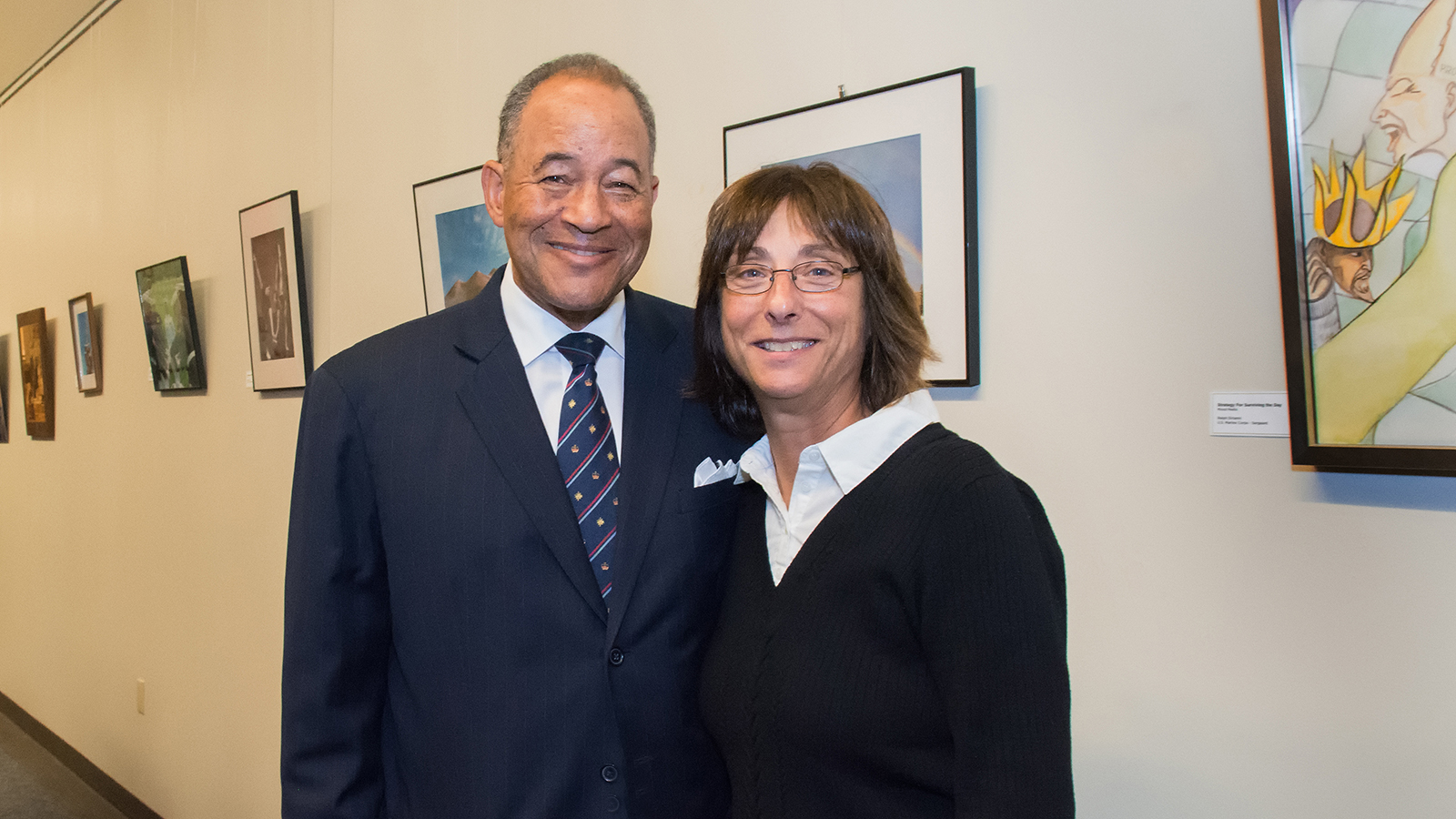 WNED | WBFO President and CEO Don Boswell with curator by Jackie Albarella