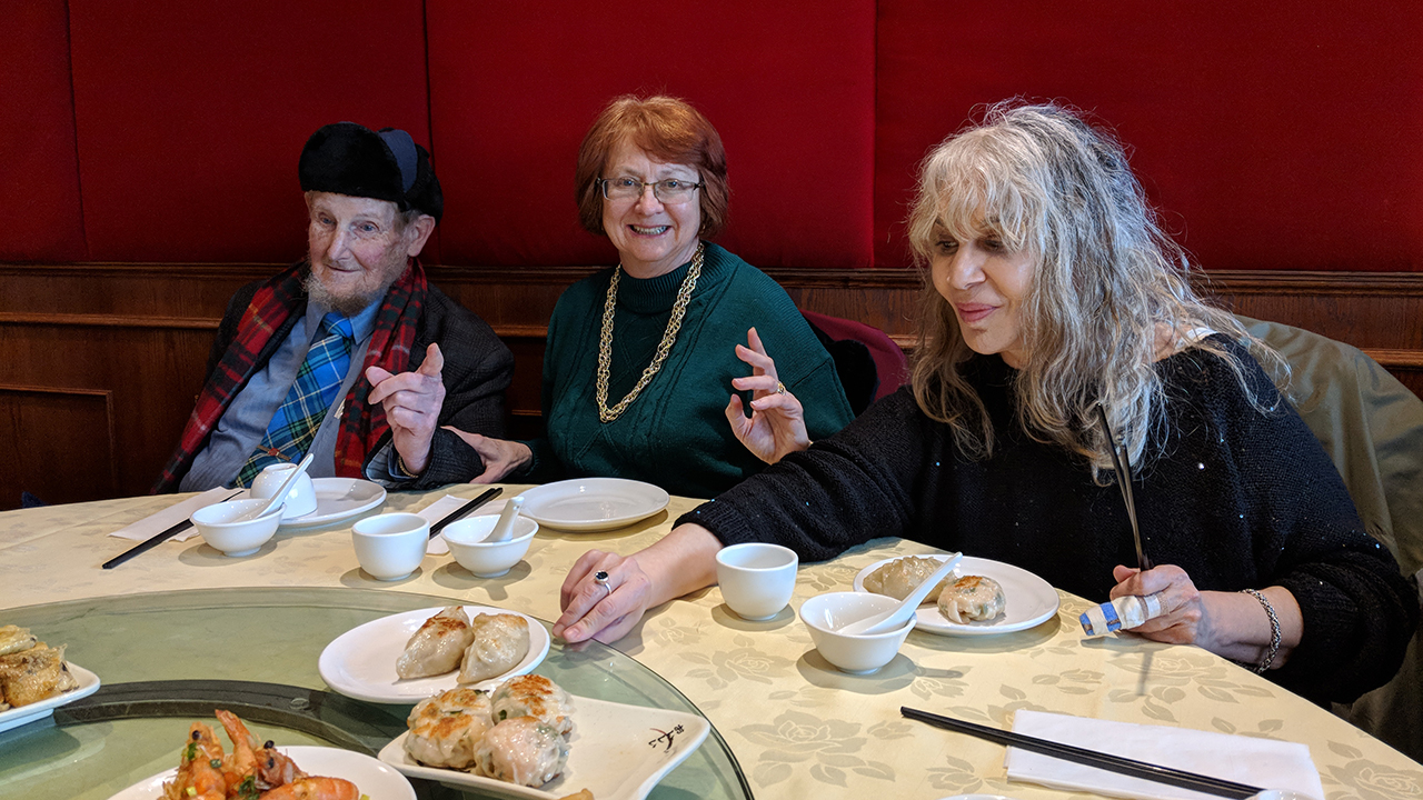 Canadian members of the Leadership Giving Program enjoy lunch in the heart of Toronto's Chinatown