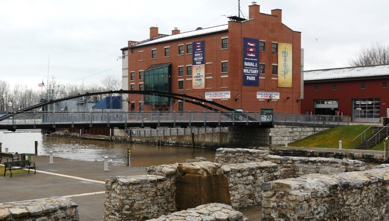 Terminus of the Erie Canal in Buffalo, NY