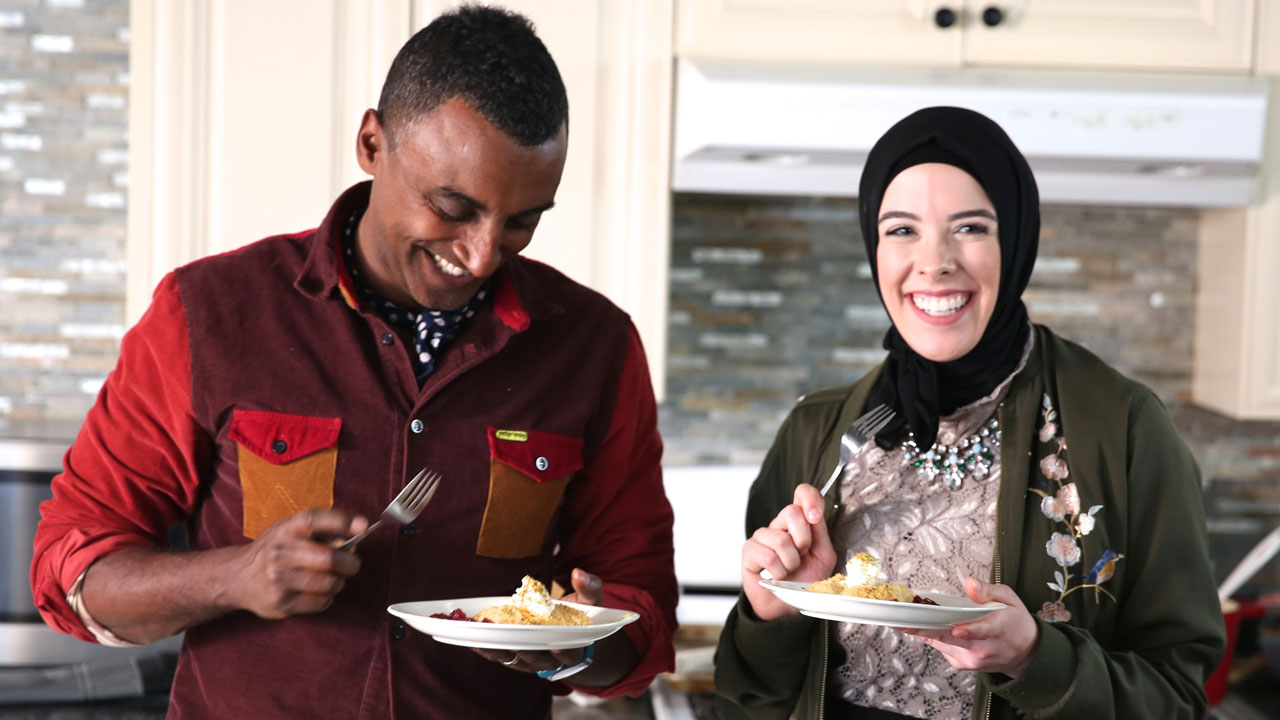 Marcus with Lena Sareini exploring the culture and flavor of Detroit's Middle Eastern community.