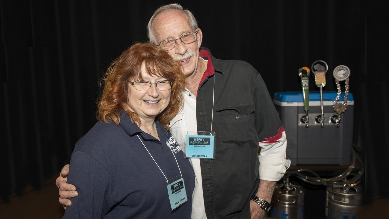 Volunteer bartenders at WBFO's Buffalo Blues Bash - WNED | WBFO has a thriving volunteer community who help make events like WBFO's Buffalo Blues Bash a success.