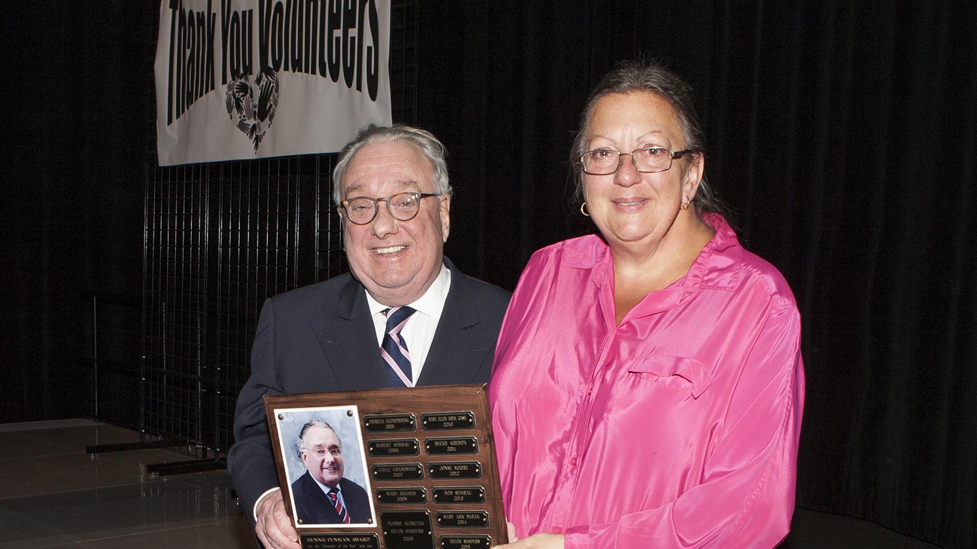 Donna Racczynski, recipient of the 2016 Dennis Penman Volunteer of the Year Award