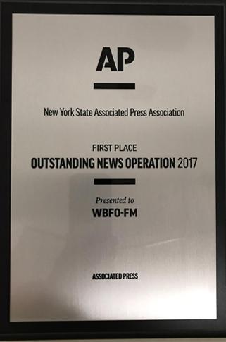 Congratulations WBFO!
