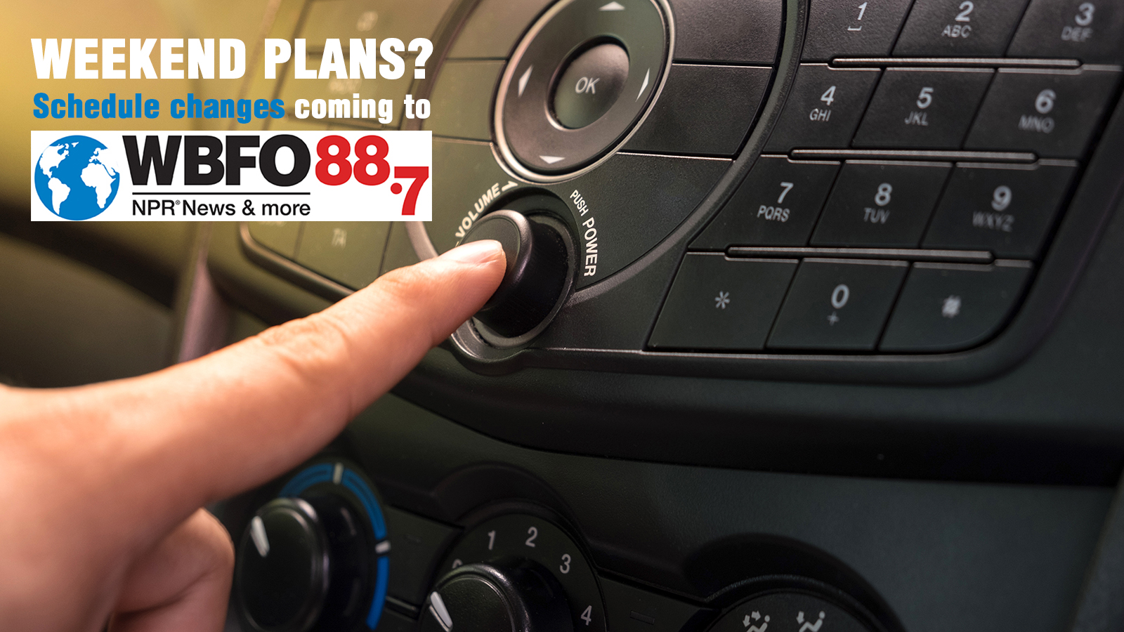 Schedule Changes Coming To WBFO