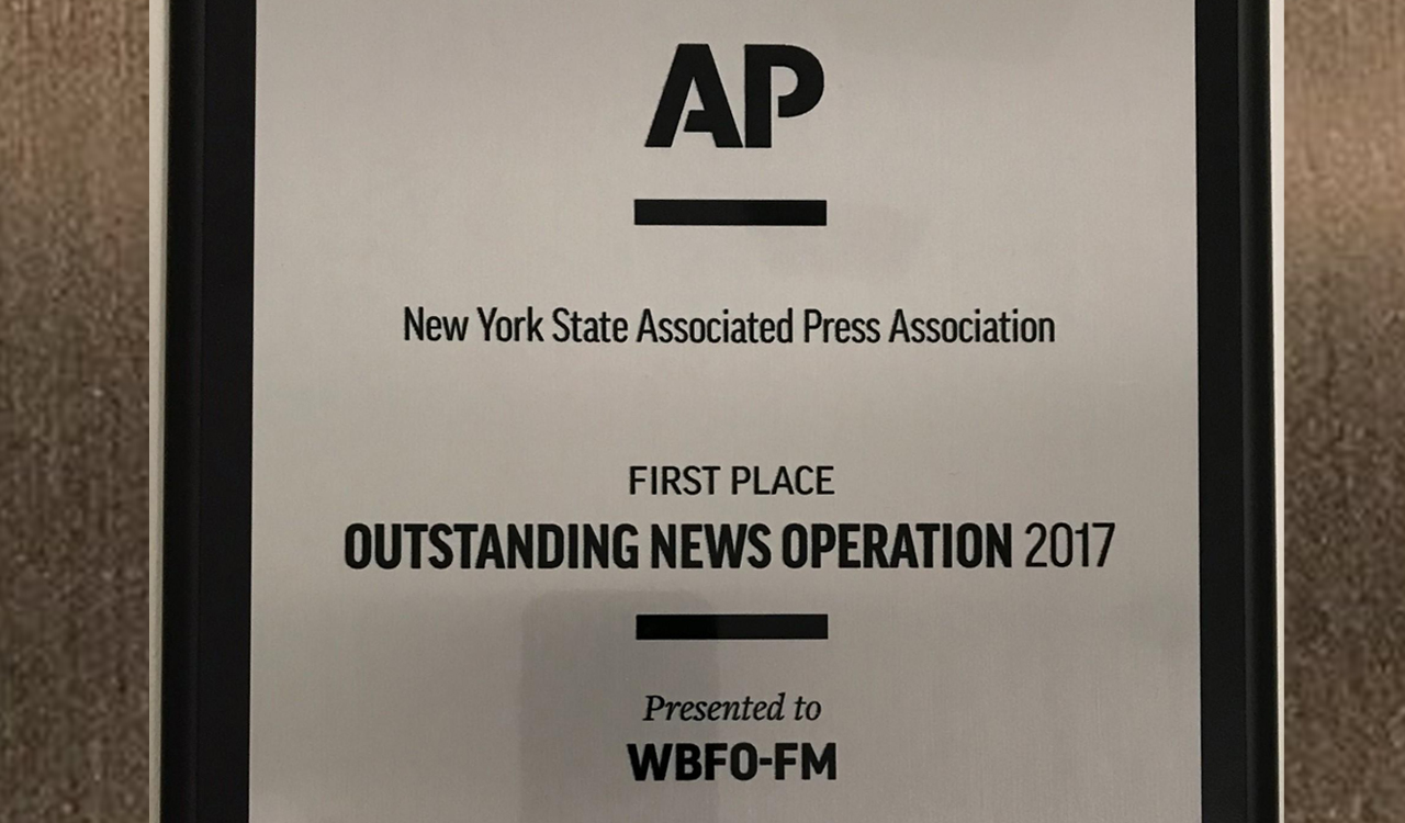 WBFO Wins AP's Outstanding News Operation